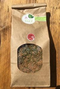 no 3 rotes salz: bolivianisches rosensalz (chili, paprika,ingwer,kräuter)